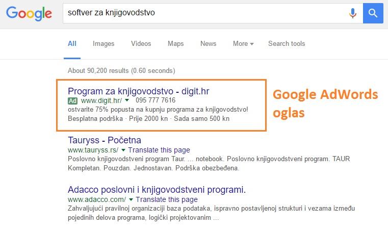 google prvi na trazilici placeni oglasi ppc 2